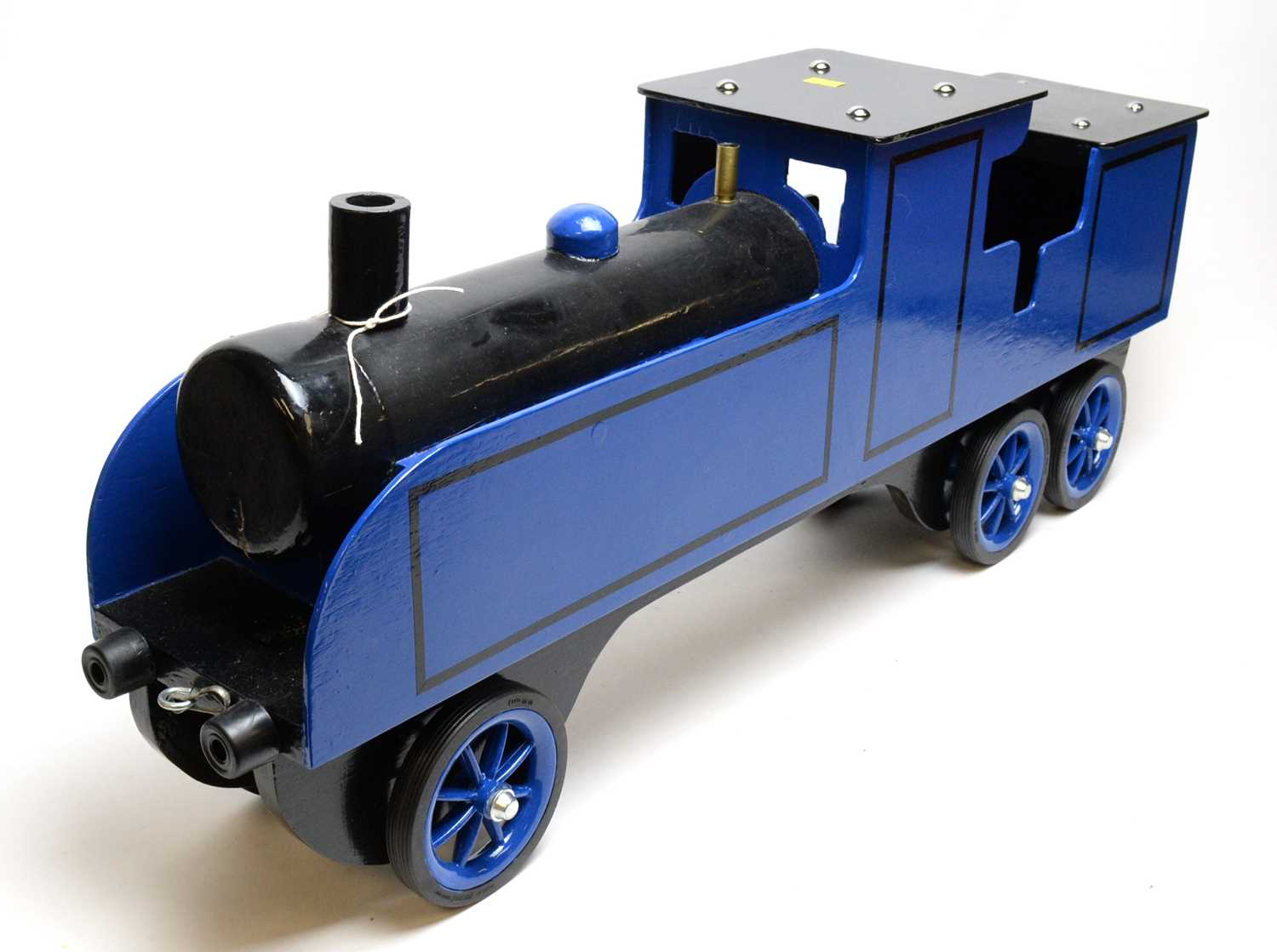 A wooden scratch-built sit-on locomotive. - Image 2 of 2
