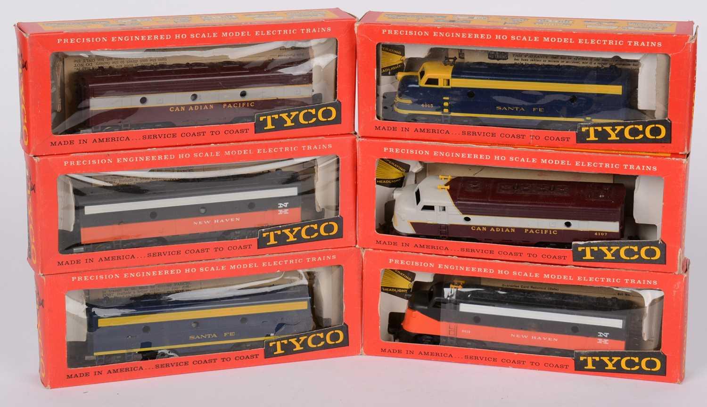 Three pairs of Tycho HO-gauge diesel electric locomotives