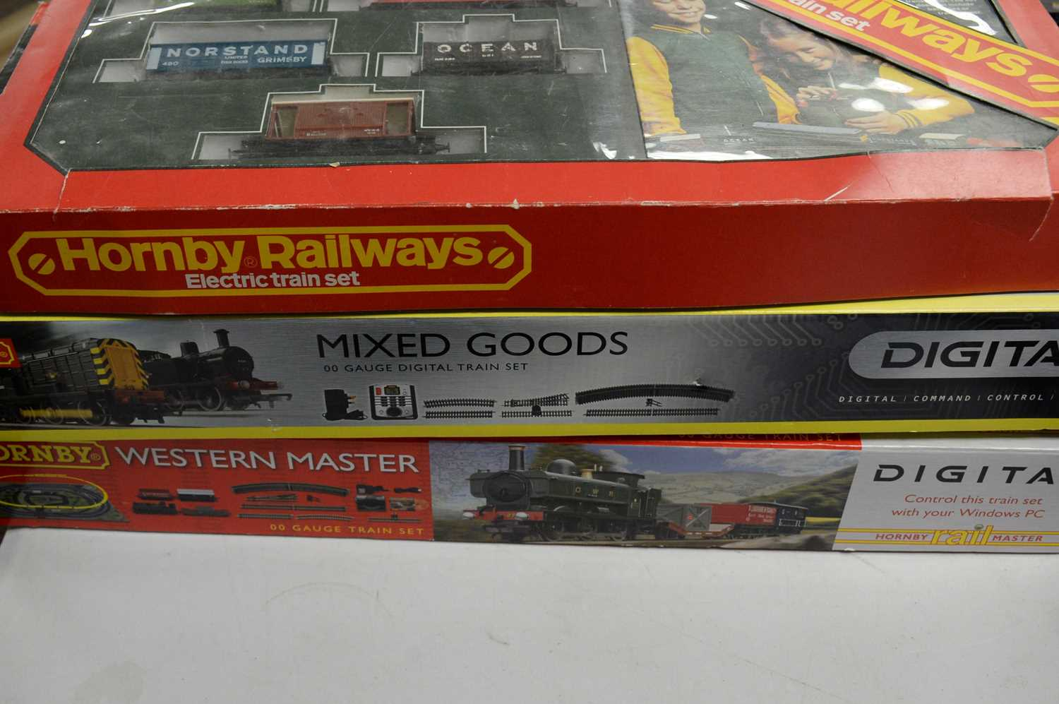 Three boxed Hornby 00-gauge trains sets, and other items. - Image 2 of 3