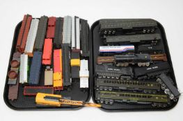 Unboxed Pullman and other carriages,