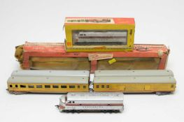 Rivarossi and Fleischmann 00-gauge trains and carriages.