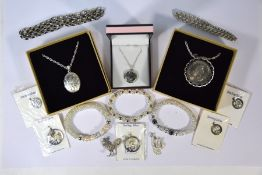 Collection of silver and white metal jewellery