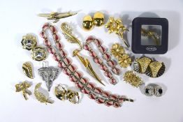 Collection of vintage designer costumer jewellery