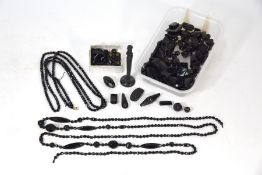 Collection of Victorian and later Whitby jet