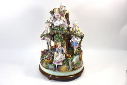A late 19th century German porcelain massive allegorical group