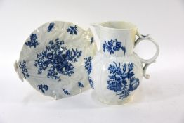 A First Period Worcester cabbage-leaf plate and jug