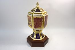 A Masons Ironstone commemorative vase and cover - The Columba Chalice