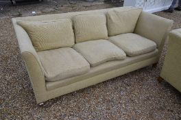A country house three-seater sofa