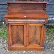 A Victorian mahogany chiffonier