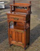 A 'Walker & Sons' good quality walnut side cabinet