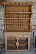 An old waxed pine dresser