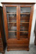 'Willis & Gambier' mahogany display cabinet