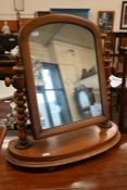 A Victorian mahogany toilet mirror