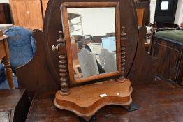 A Victorian mahogany framed toilet mirror