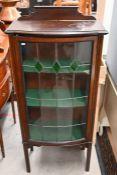 An early 20th century mahogany display cabinet