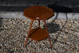 A late Victorian birch occasional table