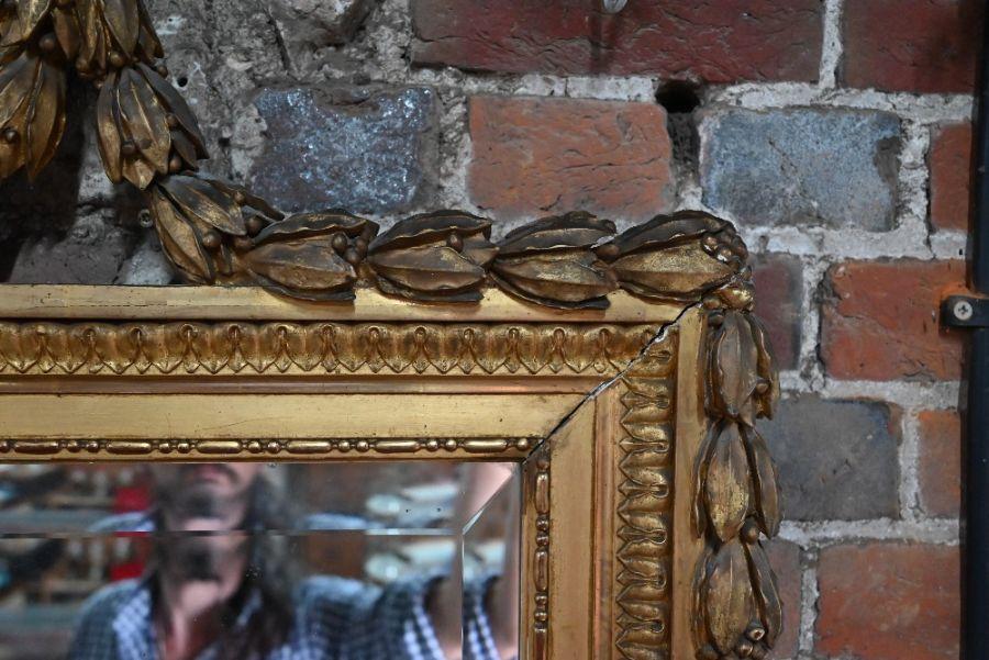 An antique gilt framed trumeau mirror - Image 3 of 3