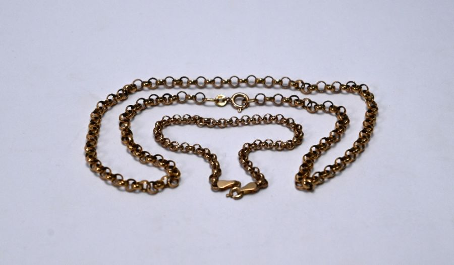 A 9ct rose gold belcher chain - Image 2 of 3