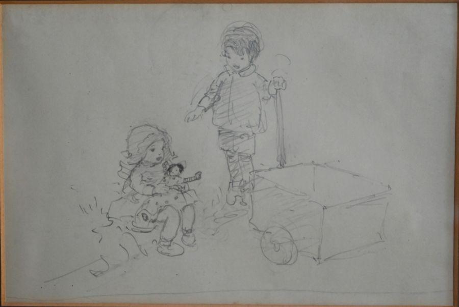 Kate Elizabeth Olver (1881-1960) - pencil - Image 4 of 5