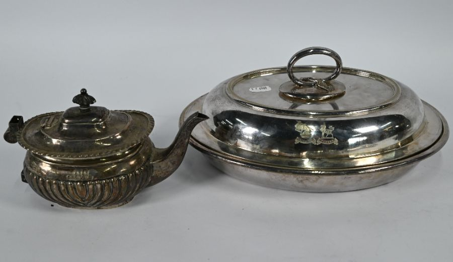 Silver teapot, etc. - Image 5 of 5