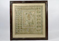 An antique Continental needlework sampler