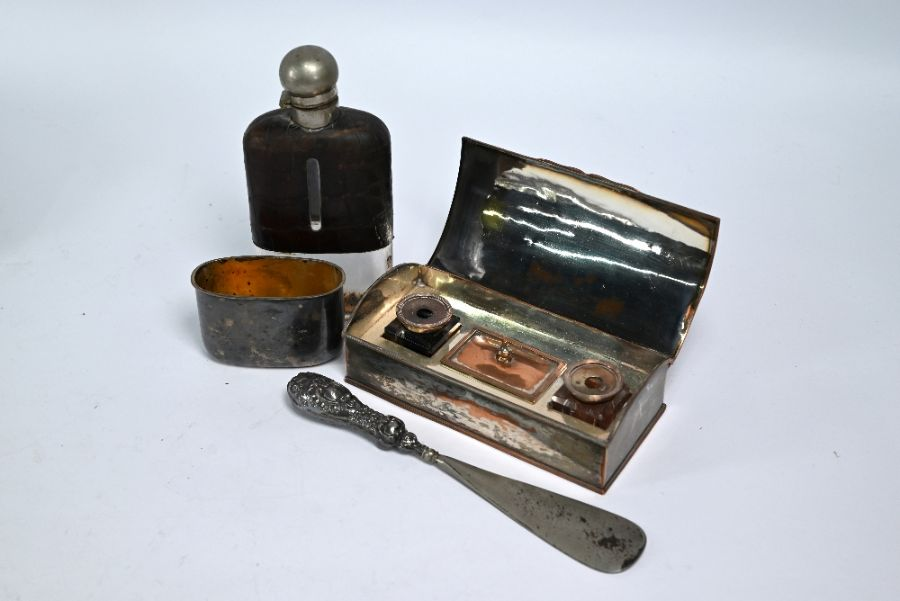 Silver teapot, etc. - Image 4 of 5