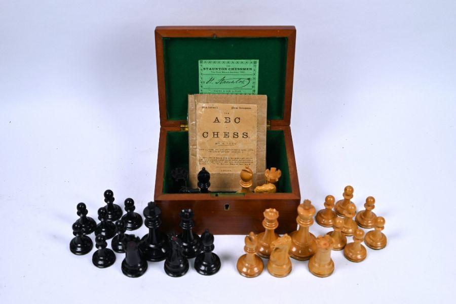 Jaques & Son, London, a 19th century Staunton chessmen set