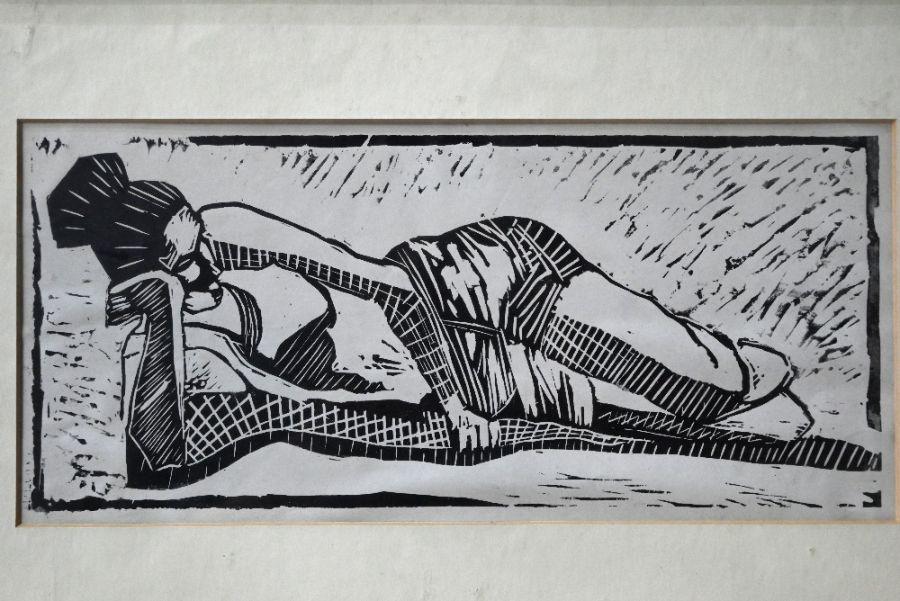 20th century - wood block print - Image 3 of 4