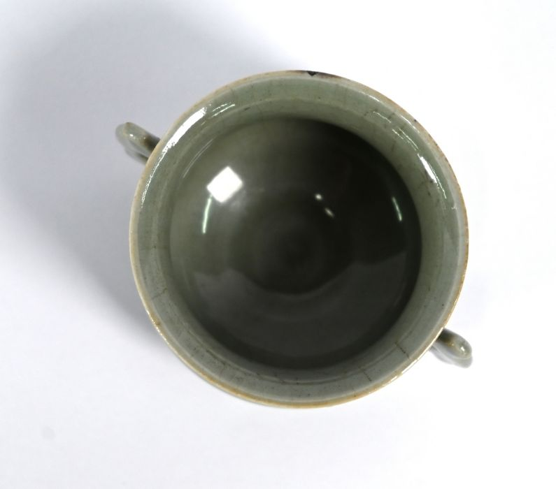 A Chinese Ge style small censer, 4.5 cm high - Image 4 of 8