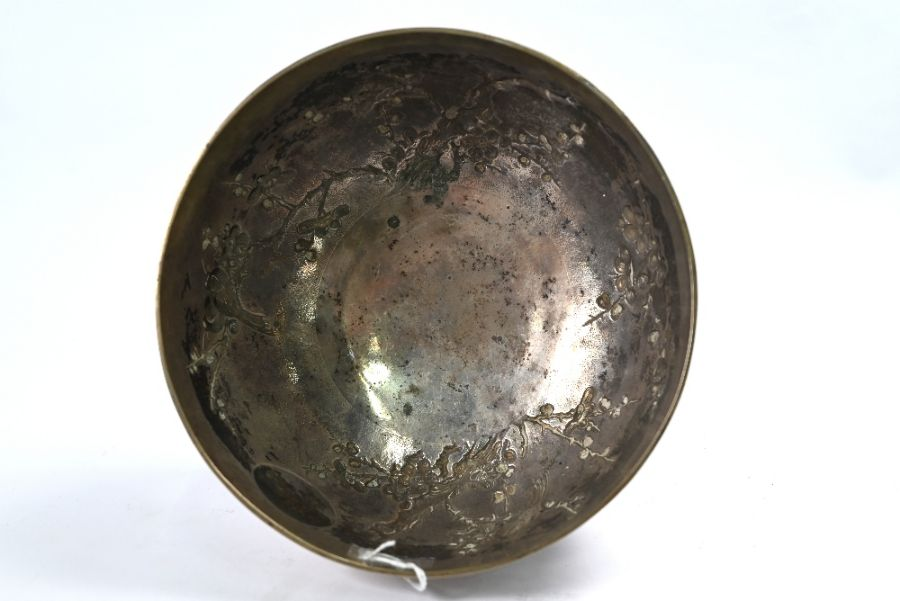 Chinese export silver rose-bowl, Tuck Chang (Shanghai) - Image 4 of 5
