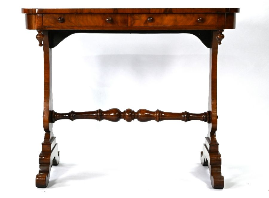 A Victorian rosewood side table - Image 4 of 5