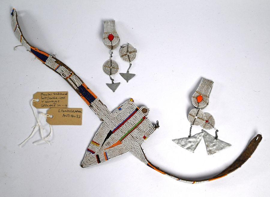 An African tribal (probably Masai) beaded cache-sexe