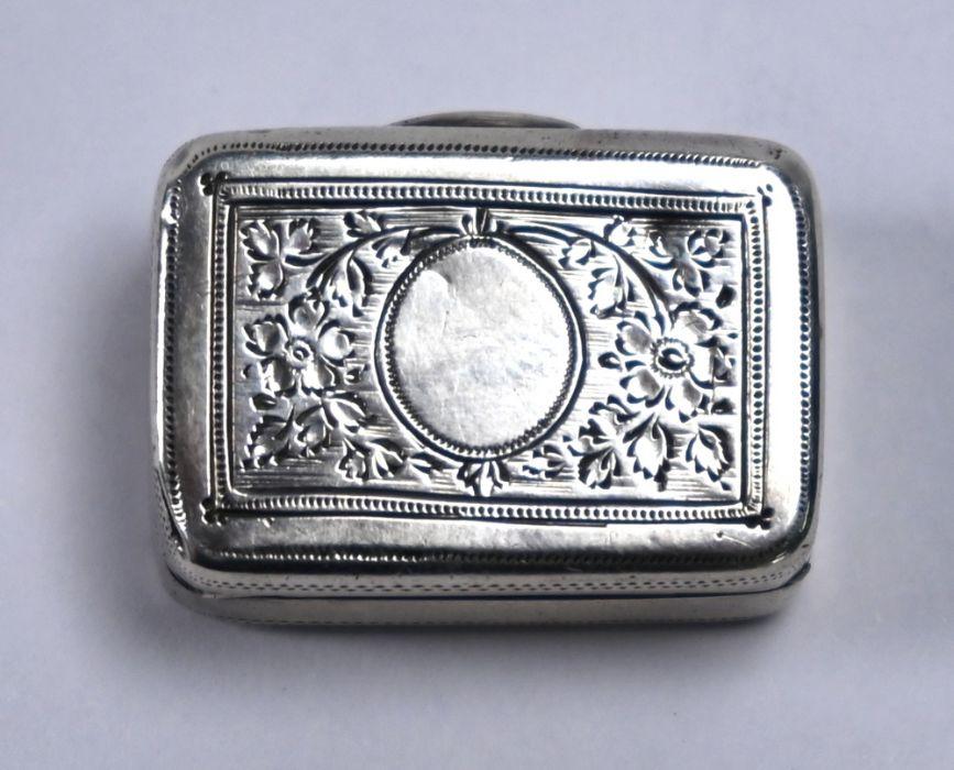 George III silver vinaigrette, Abstinando King, London 1803 - Image 2 of 5