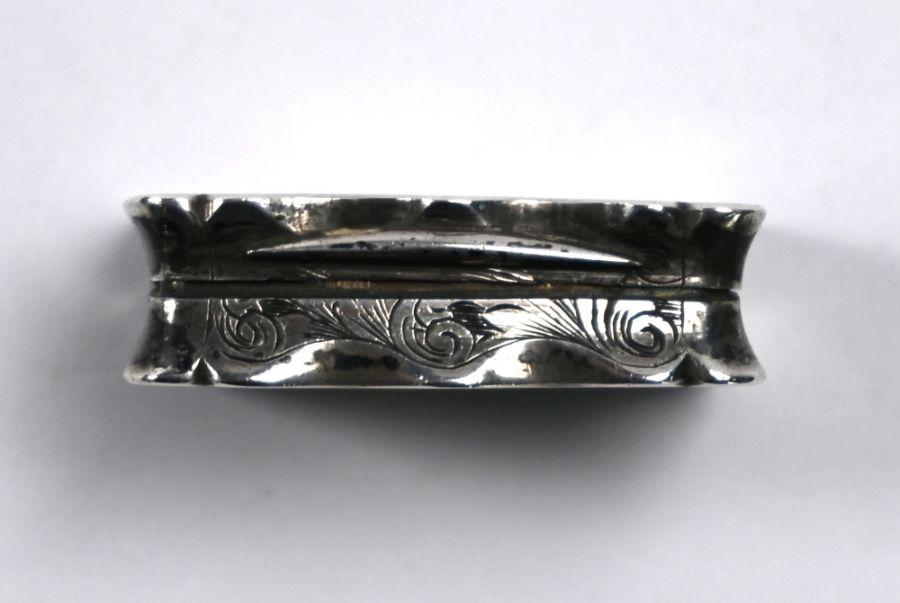 Victorian silver vinaigrette, Birmingham 1864 - Image 4 of 6