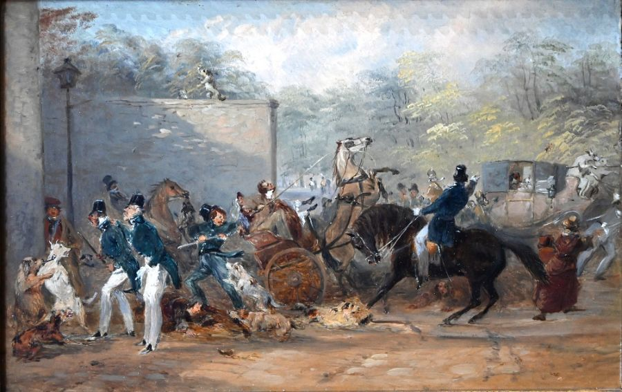 Hablot Knight Brown (1815-1882) attrib - oil on panel - Image 4 of 6