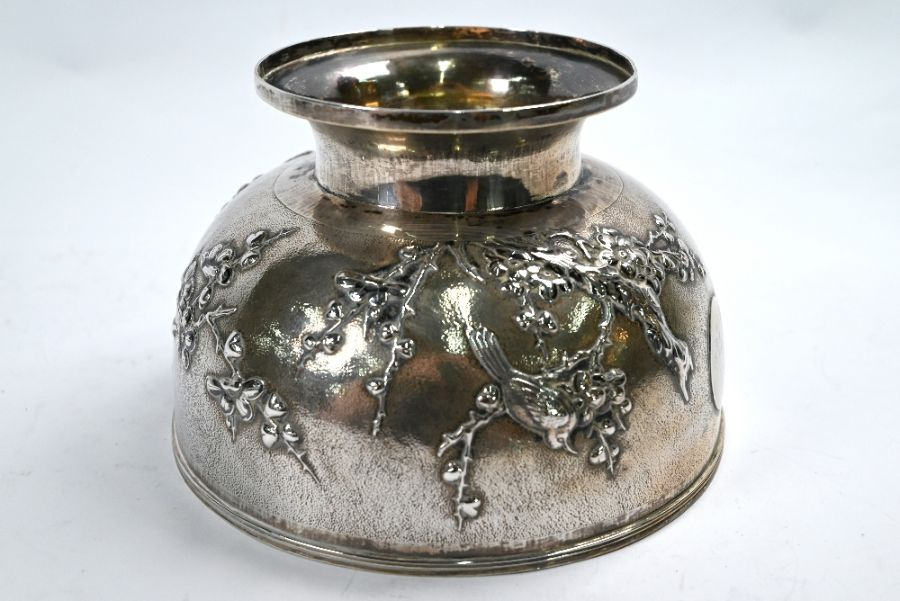 Chinese export silver rose-bowl, Tuck Chang (Shanghai) - Image 2 of 5