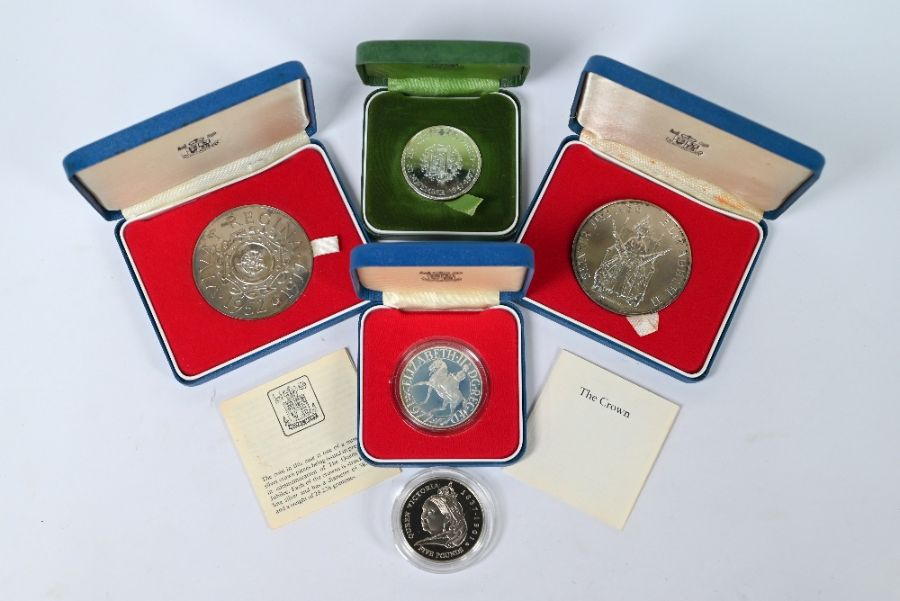 Various Royal Mint silver medallions and crowns - Image 4 of 5