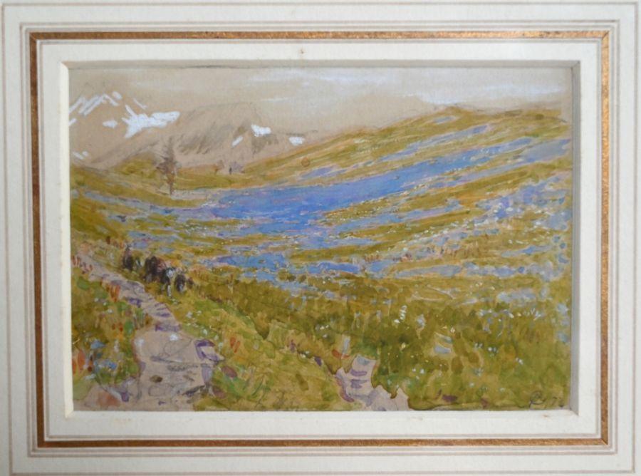Albert Goodwin RWS (1845-1932) - watercolour - Image 2 of 2
