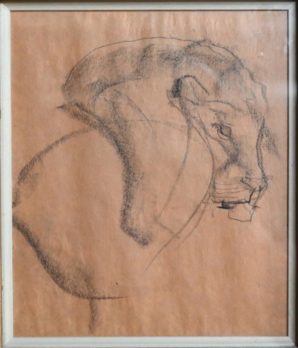 Nommie Durell (1905-1989) - charcoal
