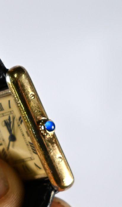 Silver gilt Must de Cartier 'Tank' wristwatch - Image 2 of 3