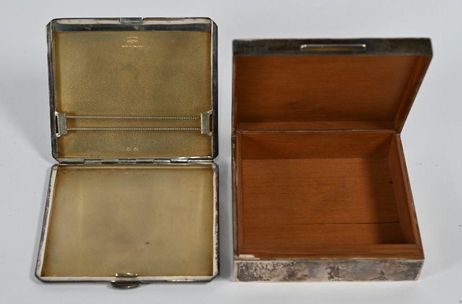 Heavy quality Art Deco style cigarette case, cigarette box and decanter labels - Image 4 of 4