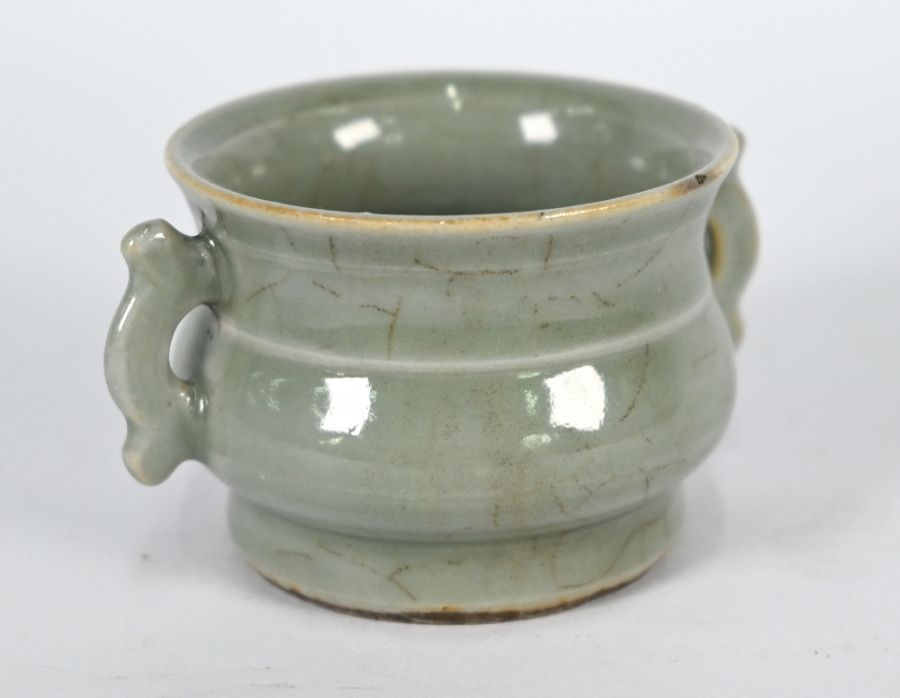 A Chinese Ge style small censer, 4.5 cm high - Image 5 of 8