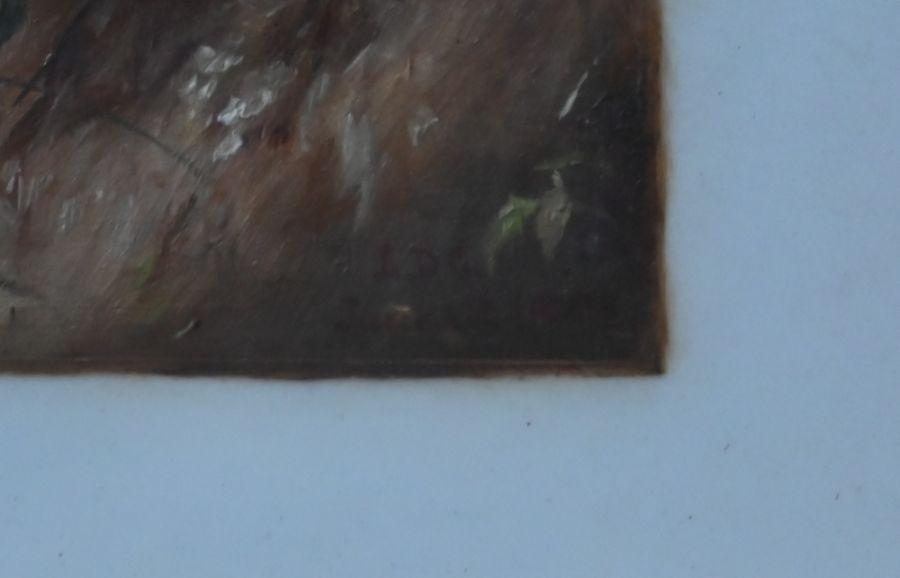 LDG landscape with children - oil on card - Image 5 of 6