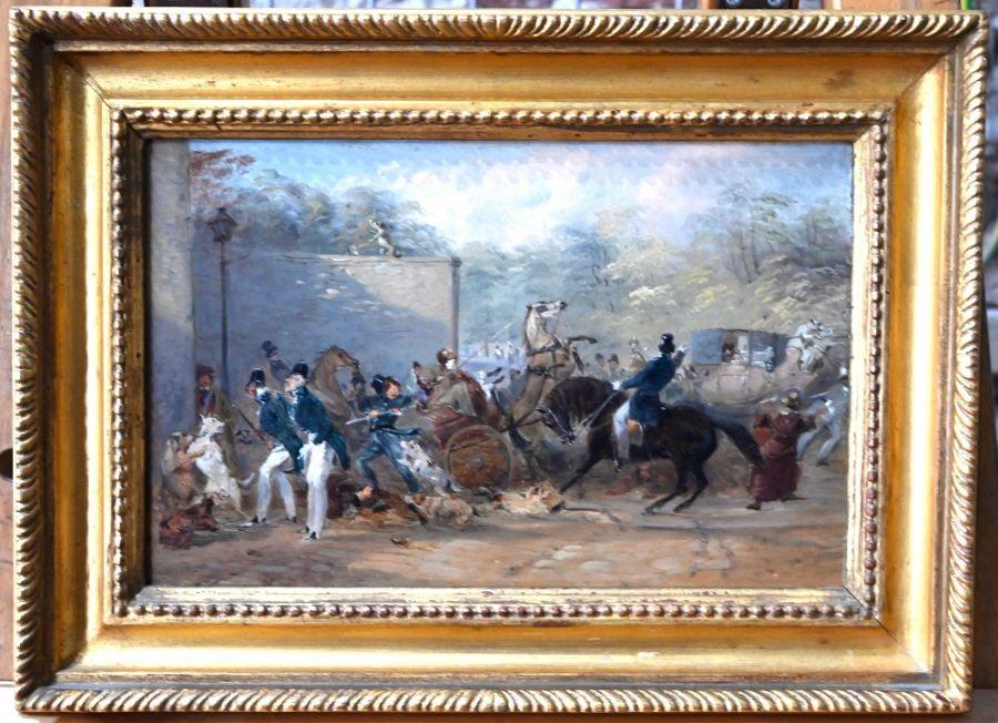 Hablot Knight Brown (1815-1882) attrib - oil on panel - Image 2 of 6
