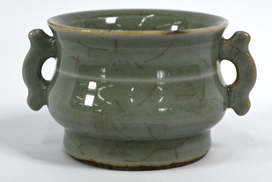 A Chinese Ge style small censer, 4.5 cm high - Image 2 of 8