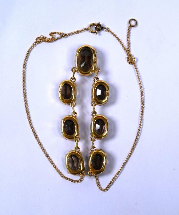 An Edwardian smokey quartz fringe necklace - Image 4 of 4