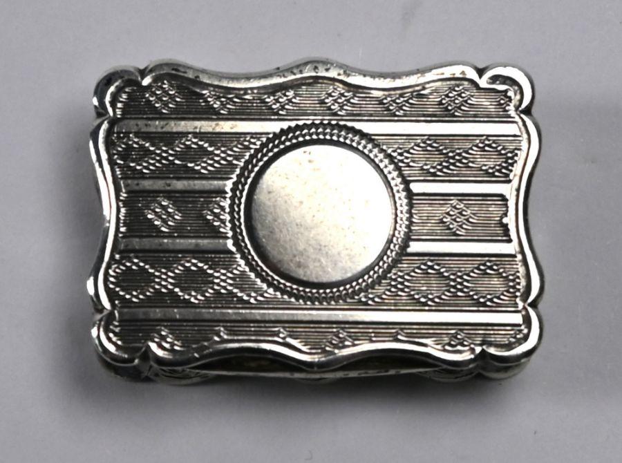 Victorian silver vinaigrette, Birmingham 1864 - Image 2 of 6