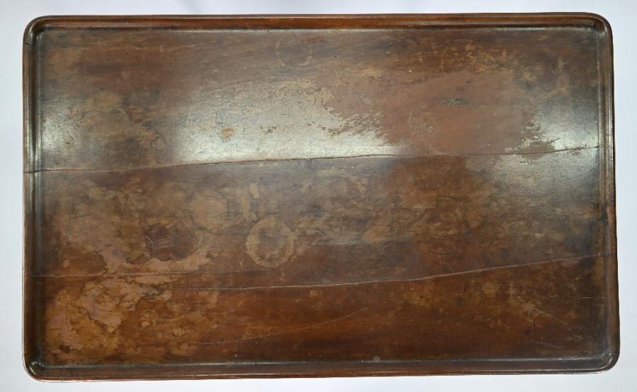 A George III mahogany shell carved silver table of Irish origin - Image 4 of 5
