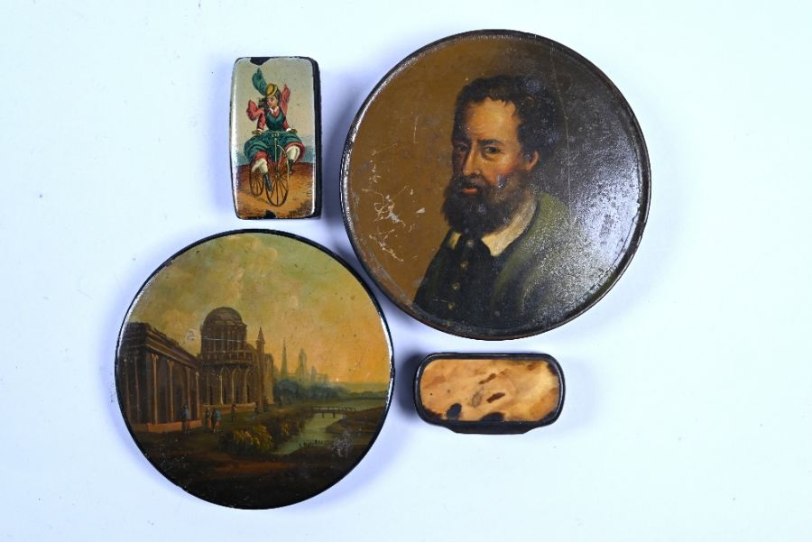 Two Stobwasser-type circular snuff-boxes and other items - Image 2 of 2