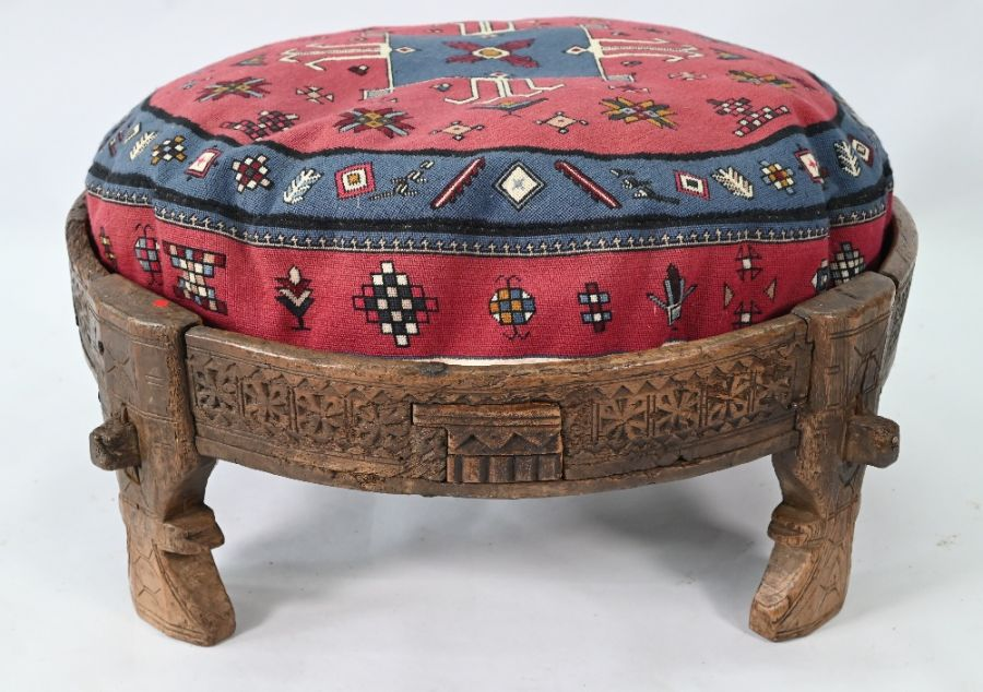 An antique Indian carved table